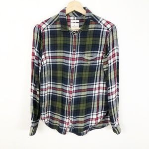 American Eagle Amazingly Soft Boyfriend Flannel, M